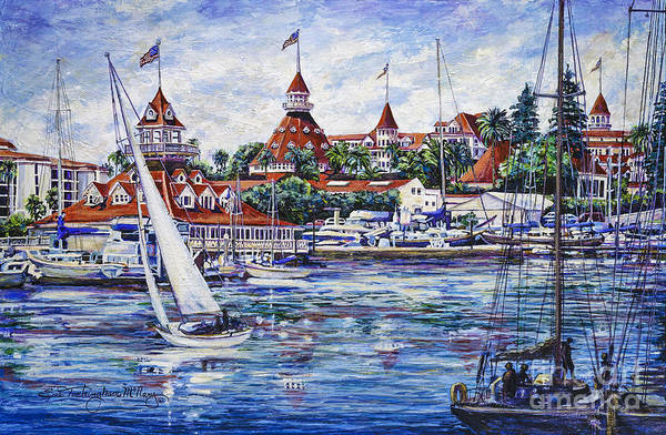 Painting - Sailing Glorietta Bay by Glenn McNary