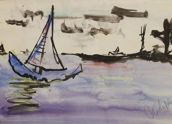 Painting - Sailing In Door County 2 by Andrew J Andropolis