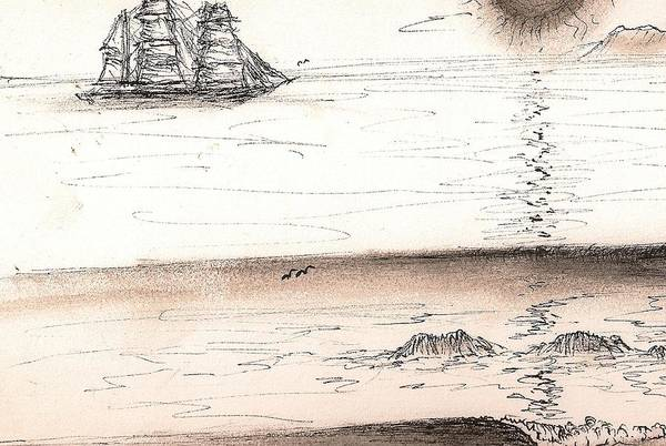 Drawing - Sailing Into The Past by Paul Carter