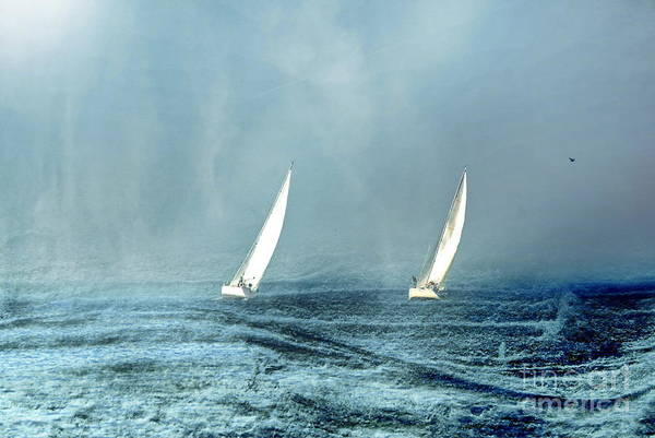 Art Print featuring the photograph Sailing Into The Unknown by Andrea Kollo