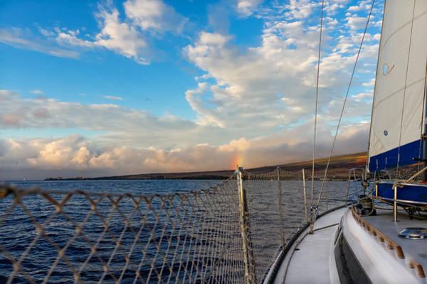 Photograph - Sailing Lahaina Bay by Lars Lentz
