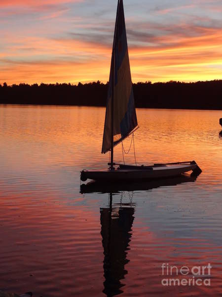 Poconos Wall Art - Photograph - Sailing Lake Naomi 1 by Jack Paolini