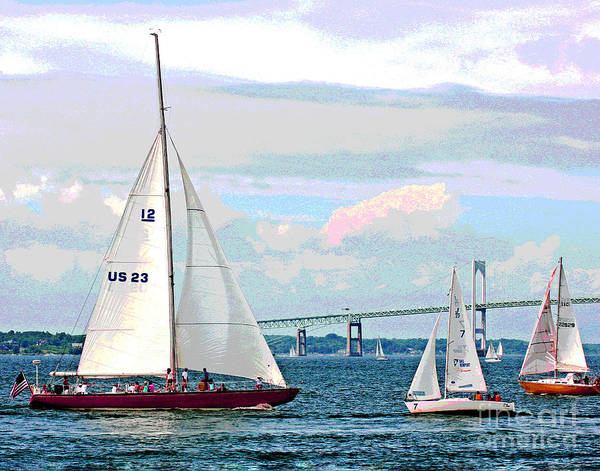 Photograph - Sailing by Larry Oskin