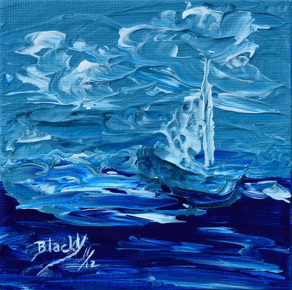 Wall Art - Painting - Sailing North by Donna Blackhall