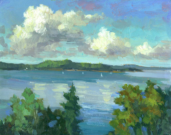 South Atlantic Wall Art - Painting - Sailing On Puget Sound by Diane McClary