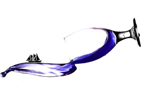 Wall Art - Photograph - Sailing On Splashing Martini by Paul Ge