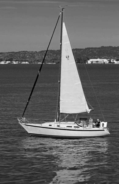 Wall Art - Photograph - Sailing On The Bay In Black And White by Suzanne Gaff