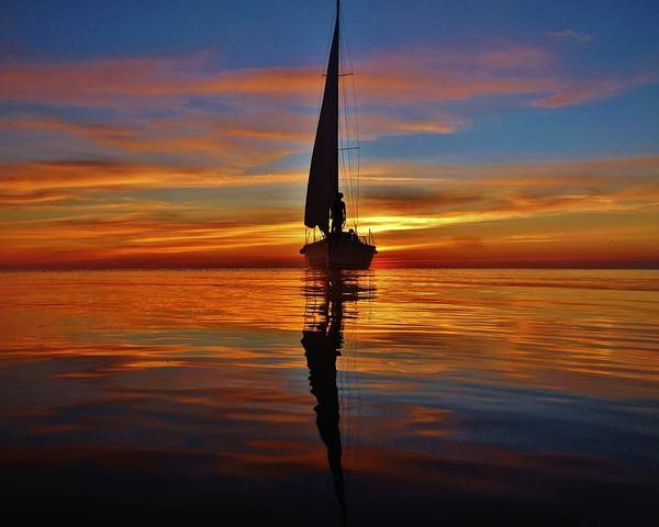 Standup Paddleboard Photograph - Sailing Perfection 19 7/5 by Mark Lemmon