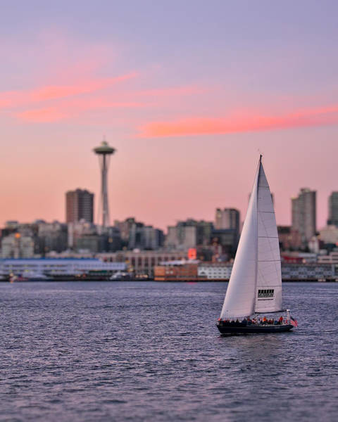 Photograph - Sailing Puget Sound by Adam Romanowicz