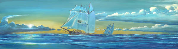 Painting - Sailing Ships At Sea by Duane McCullough