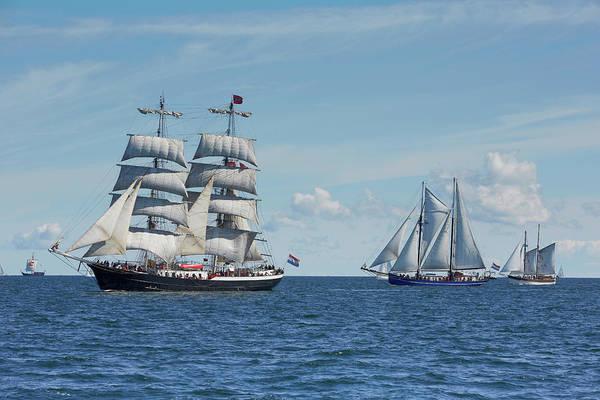 Sailing Photograph - Sailing Ships On Baltic Sea, Rostock by Thomas Grundner / Look-foto
