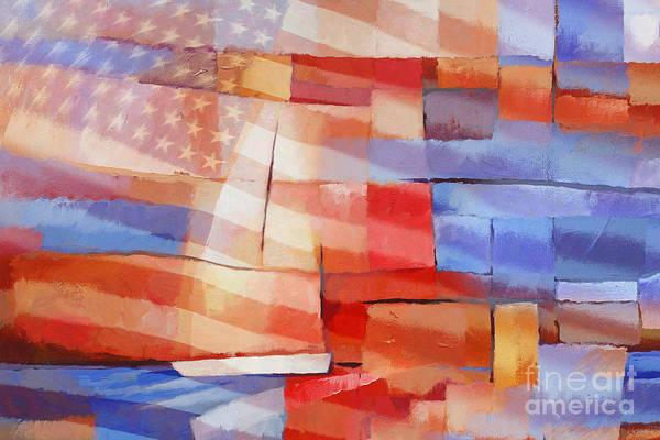 Painting - Sailing Stripes by Lutz Baar