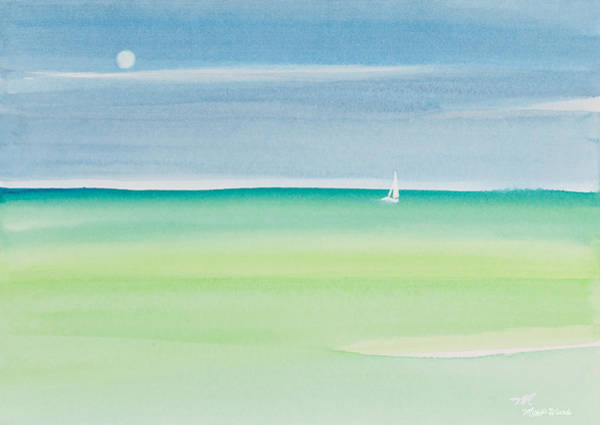 Painting - Sailing The Keys Watercolor Painting by Michelle Constantine