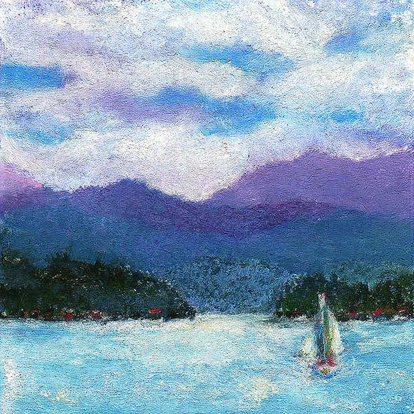 Impressionistic Sailboats Painting - Sailing The Lake by David Patterson