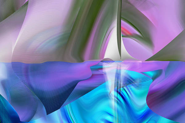Digital Art - Sailing The North by rd Erickson