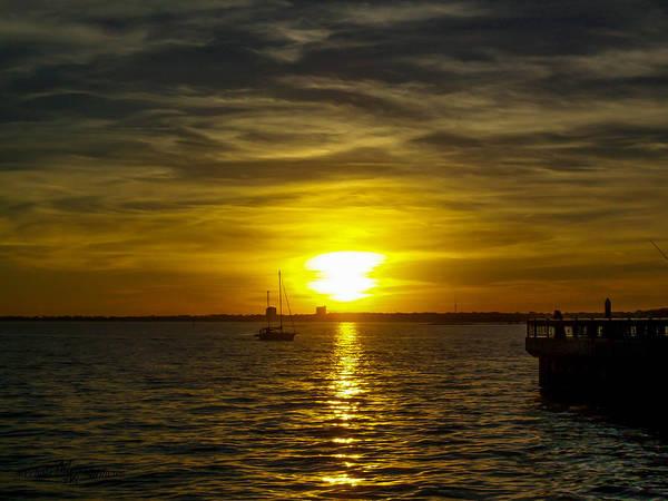 Sailing The Sunset Art Print
