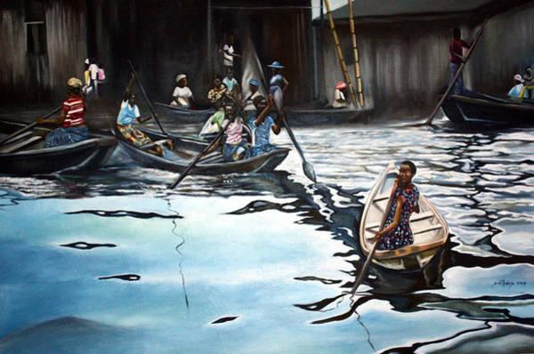 Nigeria Painting - Sailing Time by Olaoluwa Smith