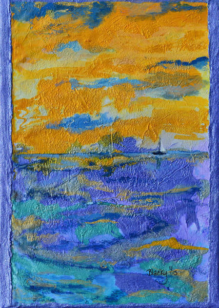 Wall Art - Painting - Sailing To St. Thomas by Donna Blackhall