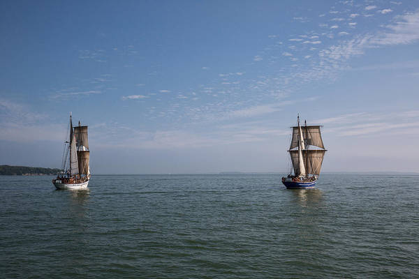 Wall Art - Photograph - Sailing Together by Dale Kincaid
