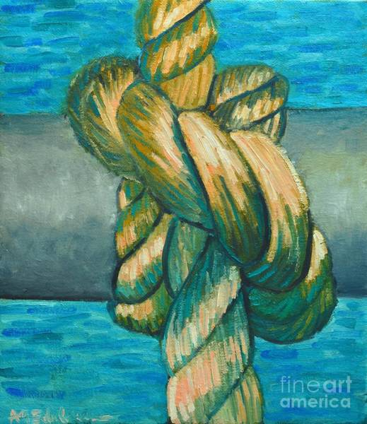 Painting - Sailor Knot 9 by Ana Maria Edulescu