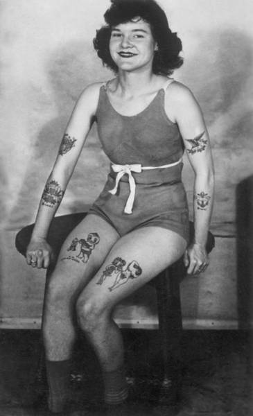 Upper Body Painting - Sailor Tattoos Flash Art by Larry Mora