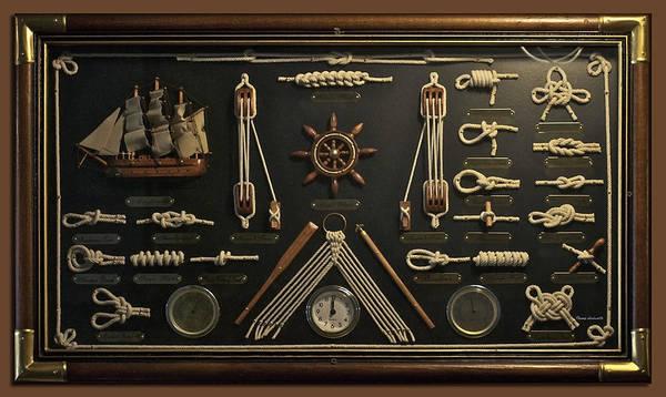 Wall Art - Photograph - Sailors Rope Knots by Thomas Woolworth