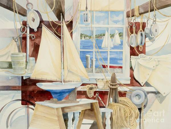Craft Painting - Sailor's Shop by Paul Brent