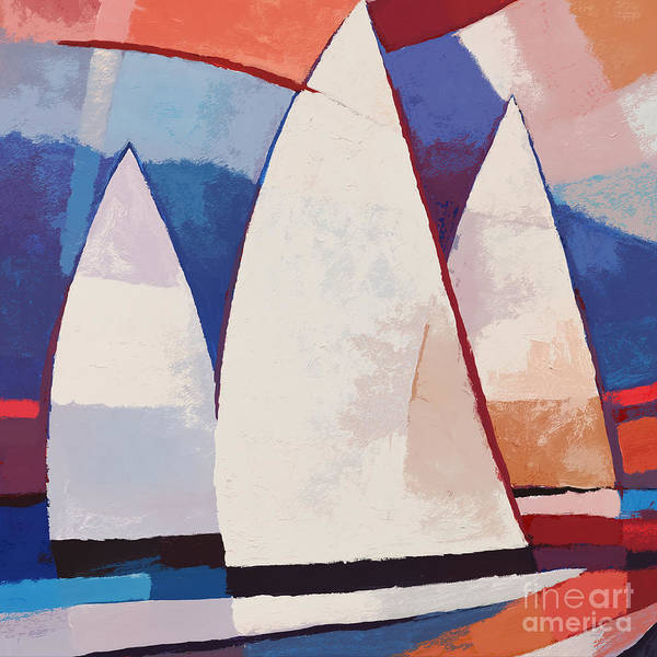 Painting - Sails Ahead Graphic by Lutz Baar