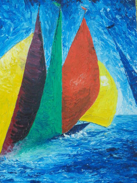 Painting - Sails by Conor Murphy