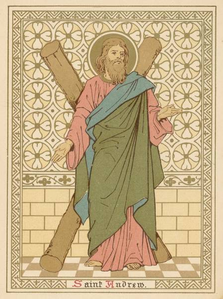 Wall Art - Painting - Saint Andrew by English School