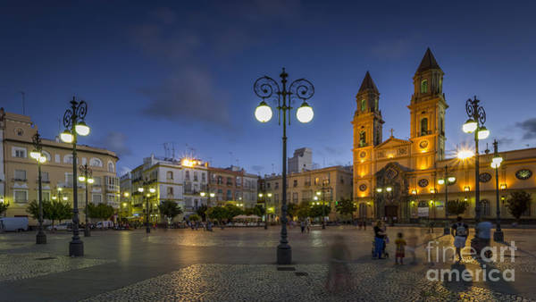 Photograph - Saint Anthony Square Cadiz Spain by Pablo Avanzini