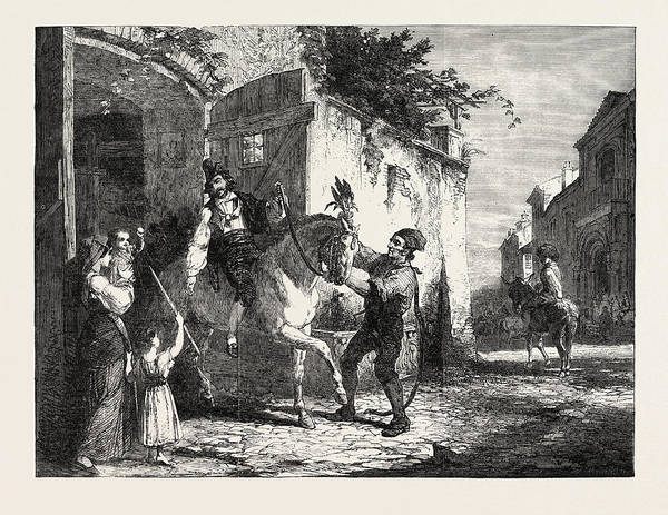 Wall Art - Drawing - Saint Anthonys Day In Rome, Exhibition Of The British by Housman Thomas, George, (1824-1868), English