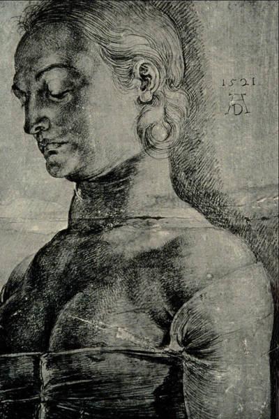 German Renaissance Drawing - Saint Apollonia Drawing by