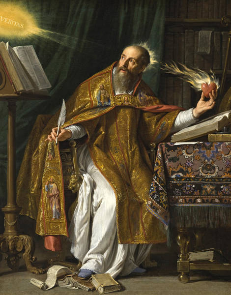 Wall Art - Painting - Saint Augustine by Philippe de Champaigne