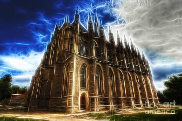 Czech Digital Art - Saint Barbara Church Kutna Hora by Michal Boubin