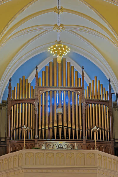 Photograph - Saint Bridgets Pipe Organ by Susan Candelario