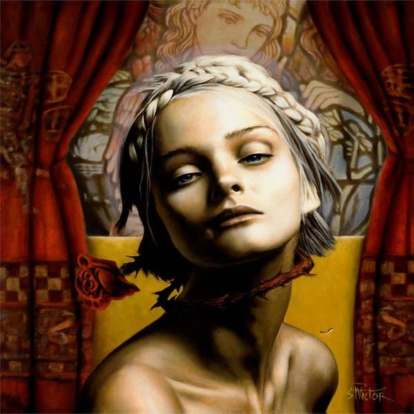 Wall Art - Mixed Media - Saint Cecilia by Vic Lee