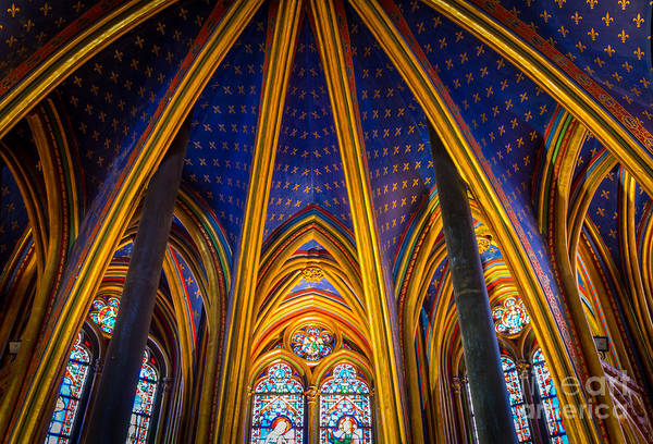Europa Wall Art - Photograph - Saint Chapelle Ceiling by Inge Johnsson