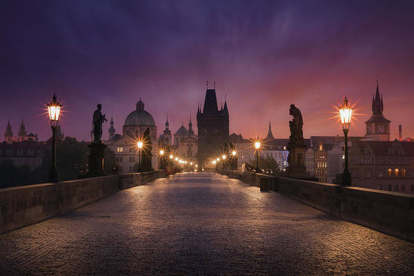 Wall Art - Photograph - Saint Charles Bridge, Prague by Inigo Cia