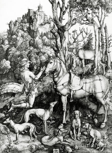 Northern Renaissance Wall Art - Painting - Saint Eustace by Albrecht Durer or Duerer