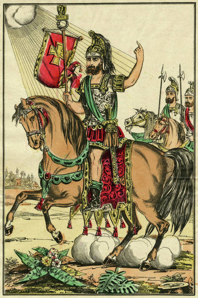 Roman Soldier Drawing - Saint Eustachio Roman Soldier Who by Mary Evans Picture Library