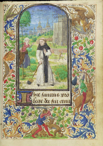 Saint Fiacre And The Shrew Houpdée Becnaude Or Baquenaude Art Print by Litz Collection