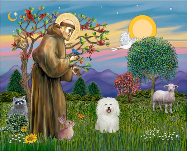 Saint Francis Blesses A Bolognese Art Print