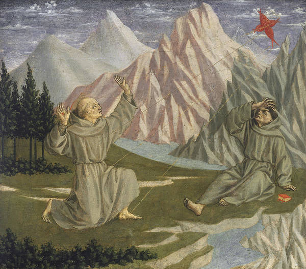 Middle Ages Photograph - Saint Francis Receiving The Stigmata, C. 1445-50 Tempera On Panel by Domenico Veneziano