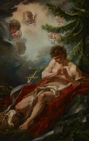 Francois Boucher Painting - Saint John The Baptist by Francois Boucher