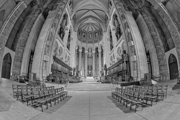 Photograph - Saint John The Divine Cathedral High Altar  II Bw by Susan Candelario