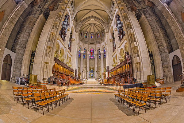 Photograph - Saint John The Divine Cathedral High Altar  II by Susan Candelario