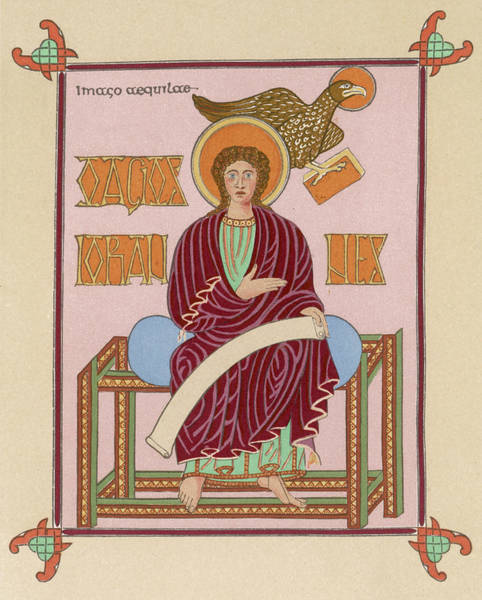 Wall Art - Drawing - Saint John The Evangelist A Rare by Mary Evans Picture Library