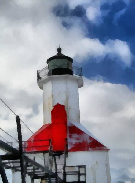 Painting - Saint Joseph Michigan Lighthouse by Dan Sproul