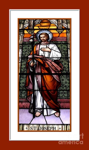 Photograph - Saint Joseph  Stained Glass Window by Rose Santuci-Sofranko
